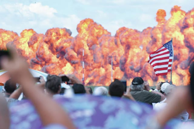 Chris Greene |Greene County News Featured performers for the fist time include appearance of the Air Force F-35 Lightning II, the Navy F/A-18F Super Hornet, the debut of the GEICO Skytypers, Redline Airshows and more.