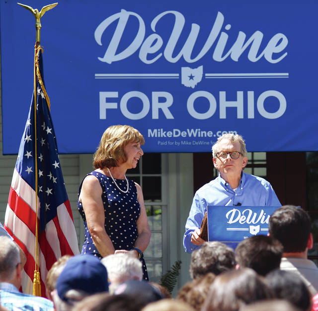 Barb Slone | News-Current Cedarville resident Mike DeWine announced at his annual ice cream social June 25 that he is running for Ohio governor in 2018. The current attorney general had previously said he was interested in running, but he made it official Sunday.