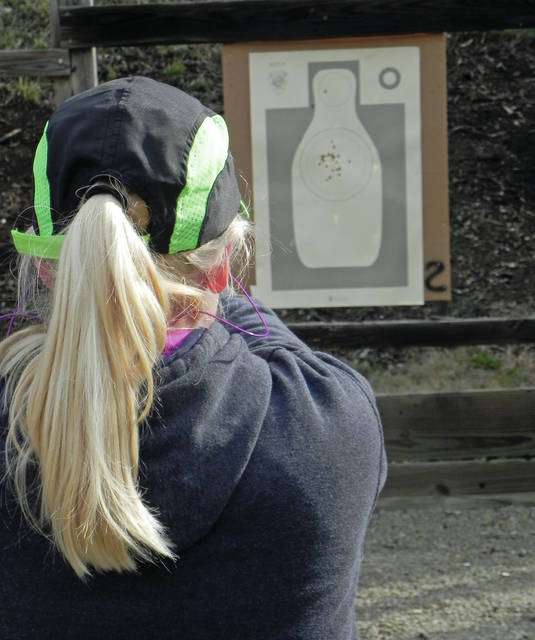 Larry S. Moore   News-Current Many ladies attended the Blast event and proved to be very good shooters as this target shows.