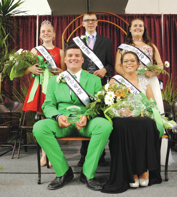 Whitney Vickers | News-Current Greene County Fair 2017 royalty includes (top row, left to right): Madison Travis, princess; Caden Kline, prince; Ashley Howard, queen runner-up; and (bottom row) Bradley Eakle, king; and Allison Rapp, queen.