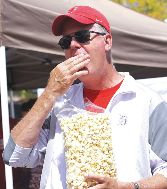Barb Slone | News-Current The Beavercreek Popcorn Festival filled Dayton-Xenia Road Sept. 9-Sept. 10. Thousands attended the festival as good weather prevailed this year. There was plenty of popcorn to go around while children enjoyed the variety of activities.