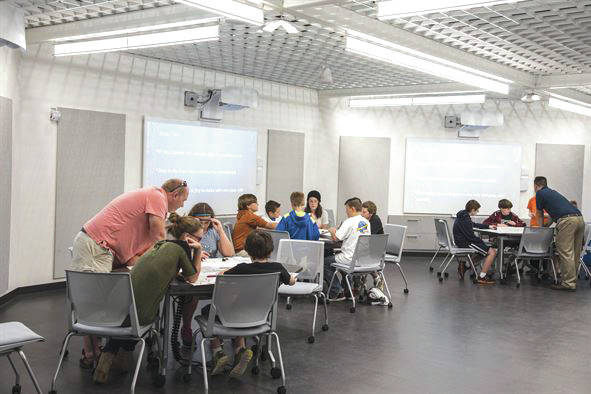 Submitted photo Students participate in Home School STEM Day at the National Museum of the U.S. Air Force.