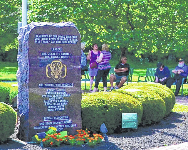 File photos Angel's Pass Memorial, located in Beavercreek Community Park, remembers Girl Scouts and troop leaders killed in a car-train collision. The park would be one of two to benefit from the Issue 14 levy.