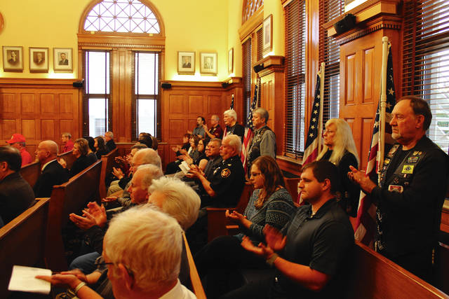 Anna Bolton | News-Current A dedication ceremony was held for the new veterans' treatment court in Greene County Common Pleas Court Nov. 3. The specialized court gives a hands-on approach to helping veterans through the criminal justice system.