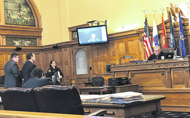 Anna Bolton | News-Current Judge Stephen Wolaver presided over the arraignments Nov. 3 in Greene County Common Pleas Court. Attorney Jon Paul Rion entered a plea of not guilty for defendant Michael Gentile.