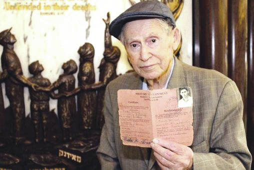 Submitted photo Samuel Heider, a 93-year-old Holocaust survivor, will give a lecture 7:30 p.m. Tuesday, Nov. 7 at Wright State.
