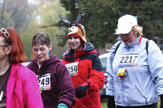 Barb Slone | News-Current Runners and walkers participated in the 6th Annual 5K Got Chocolate?, benefiting Interfaith Hospitality Network (IHN)/ Schneider House of Hope, Nov. 4 in Xenia.