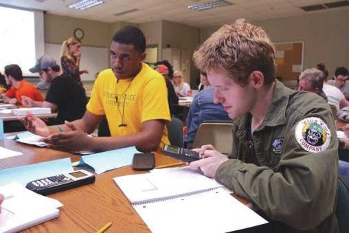 Submitted photo From left, Christian Duke and Brett Hull, students in MTH 1450, the quantitative reasoning course.
