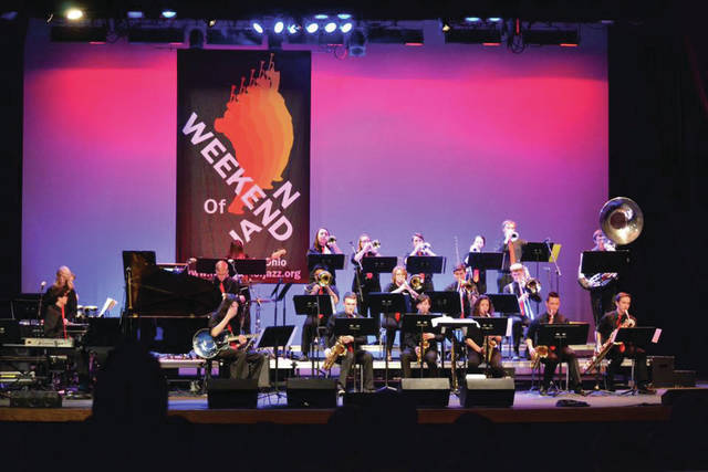 Beavercreek High School Jazz 1 ensemble performs at the festival in 2017.