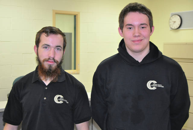 Submitted photo Greene County Career Center seniors Sam Gier from Beavercreek High School and Dylan Leeds from Greeneview High School recently passed the Equipment and Engine Training Council (EETC) Compact Diesel Engine Certification Test. Both seniors are now EETC certified in four-stroke gas engines, compact diesel engines and electrical systems. They are enrolled in the Power Equipment Mechanics program under instructor Mike Spahr.