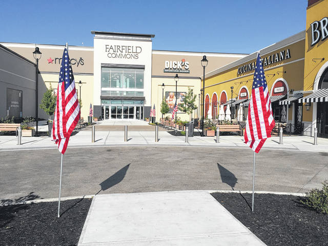Submitted photo The Avenue of the Flags was set up in front of Fairfield Commons.