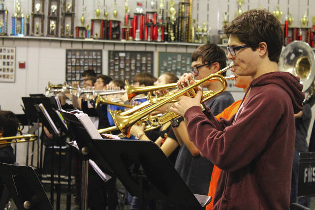 Anna Bolton | Greene County News Jazz band students rehearse Feb. 15 at Beavercreek High School in preparation for the upcoming Weekend of Jazz, Thursday-Saturday, March 1-3.
