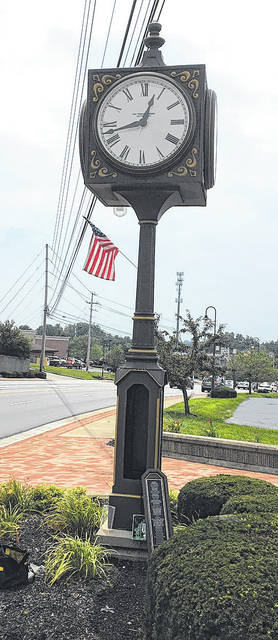 Submitted photo Beavercreek's clock is getting refurbished and will soon be back at its stop.