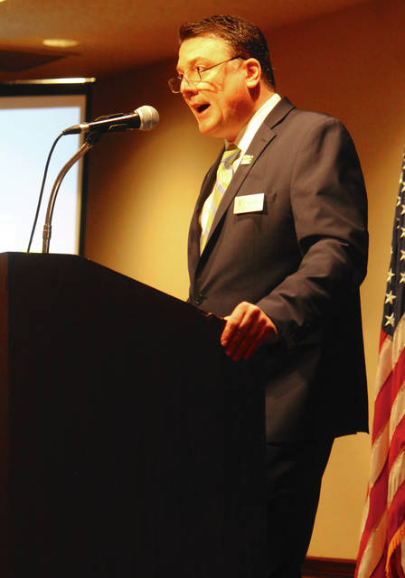 Anna Bolton | Greene County News Director of Department of Development Paul Newman Jr. updated community members on the county's economic development April 20 at the Fairborn Holiday Inn.