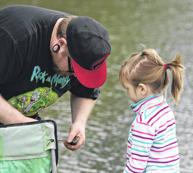 Barb Slone   Greene County News Beavercreek Parks, Recreation & Cultural Department hosted a fishing derby May 19 at Phillips Park, 2132 Dayton-Xenia Road. Children caught fish and prizes were awarded. Mr. C presented science demonstrations.