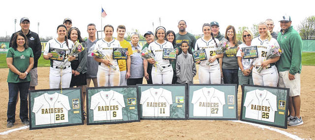 Submitted photo Wright State University Softball Team seniors look forward to the upcomign tournament.