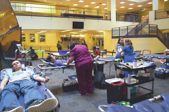 The April 10 blood drive was the sixth blood drive of the 2017-2018 school year, doubling the number of blood drives in 2016-2017. The six blood drives totaled 258 donors, including 90 first-time donors and 201 blood donations for 118 percent of goal.