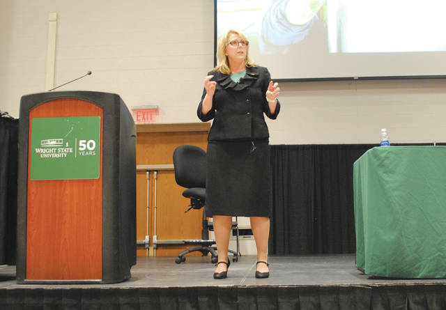 Whitney Vickers | Greene County News Dr. Susan Edwards met with the Wright State University community April 23-24.