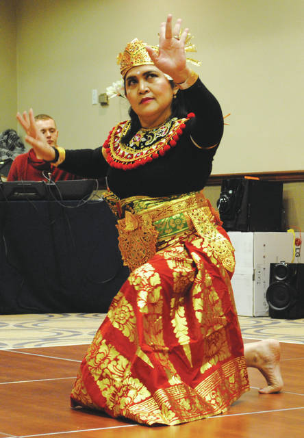 Whitney Vickers   Greene County News The Wright-Patterson International Spouses Group of Wright-Patterson Air Force Base hosted April 17 its annual International Fair, inviting cultures from around the globe to present dishes and performances.
