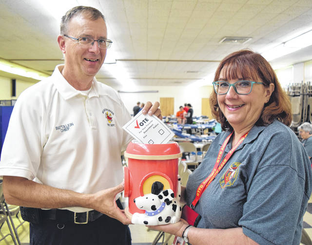 Submitted photos BTFD Battalion Chief David Young & BTFD Auxiliary organizer Pat Cochran.