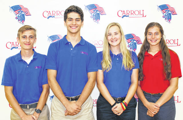 Submitted photo Carroll High School seniors (left to right) Jonah Carter, Max Herrmann, Hayley Jesse, and Anna Bete.