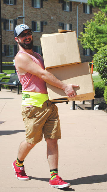 Whitney Vickers   Greene County News Thousands of incoming Wright State University students moved into their dorms and campus apartments Aug. 23.